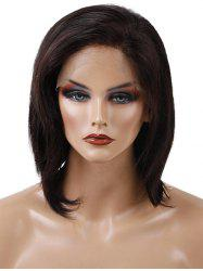 Free Part Short Straight Human Hair Lace Front Wig -