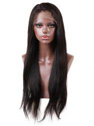 Long Free Part Straight Lace Front Human Hair Wig -