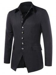 Single Breasted Turn Down Collar Blazer -