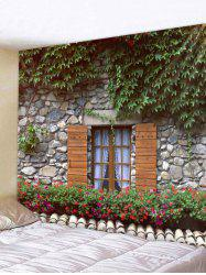 Wall Hanging Art Leafy Stone House Print Tapestry -