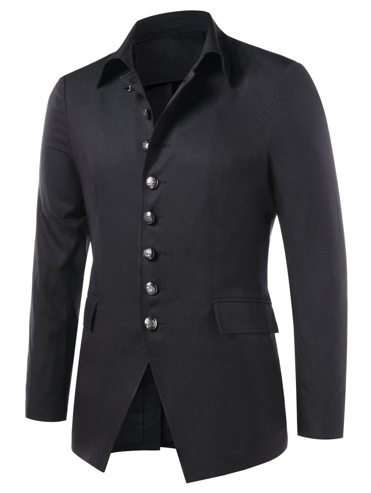 Best Single Breasted Turn Down Collar Blazer