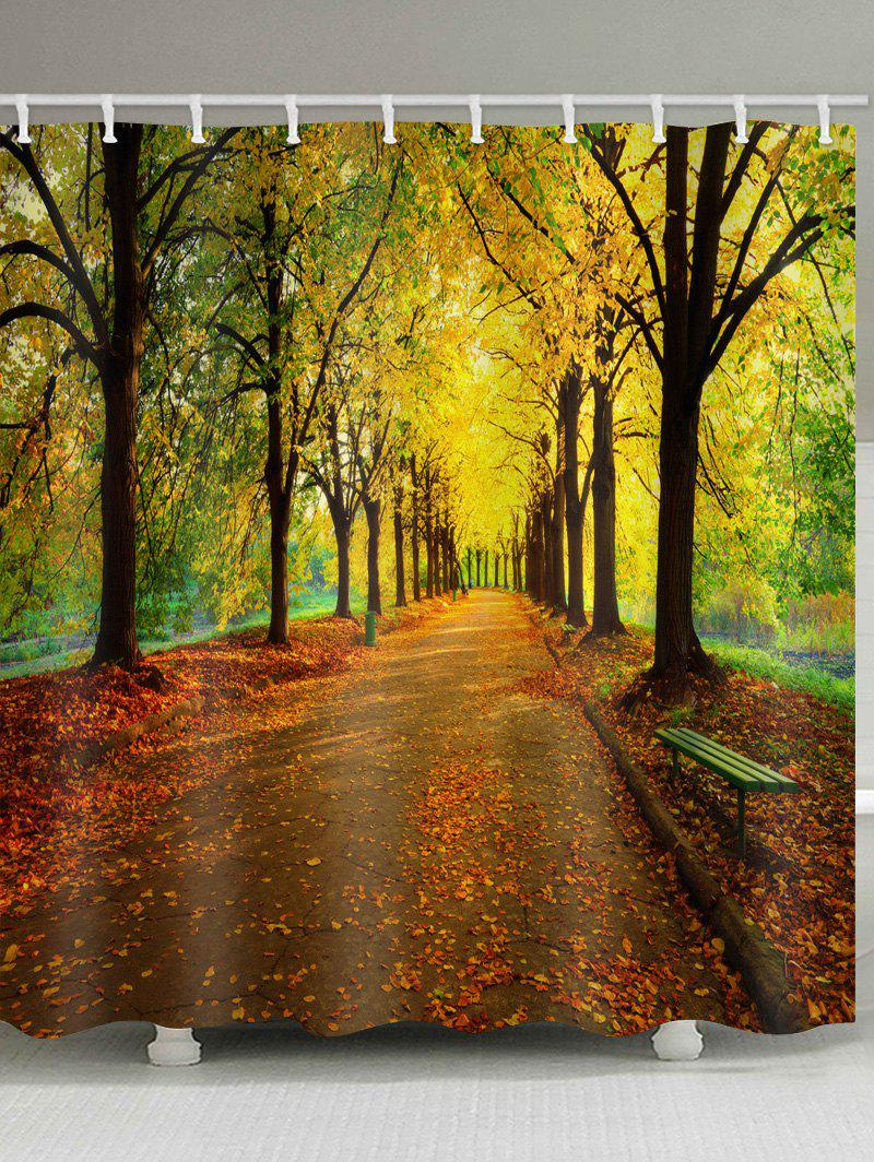 Best Road In Autumn Forest Print Bathroom Shower Curtain