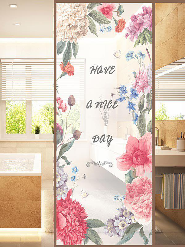 Shop Frosted Flower Blossom Glass Sticker for Window Bathroom