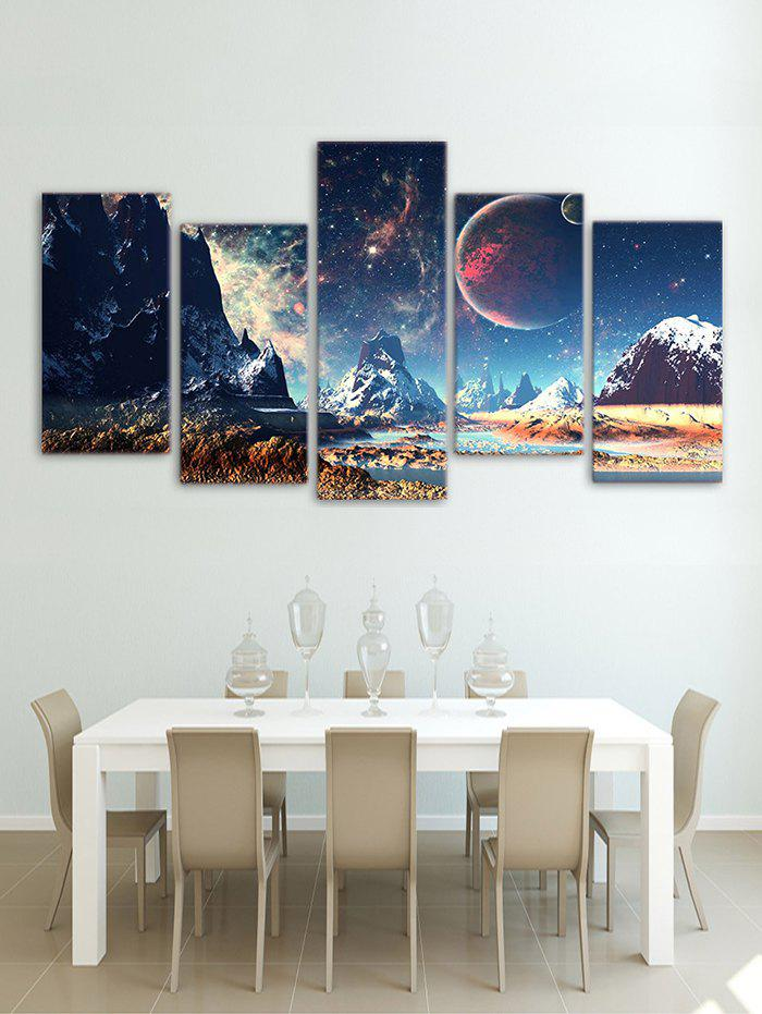 New Galaxy Mountains Print Unframed Split Canvas Paintings