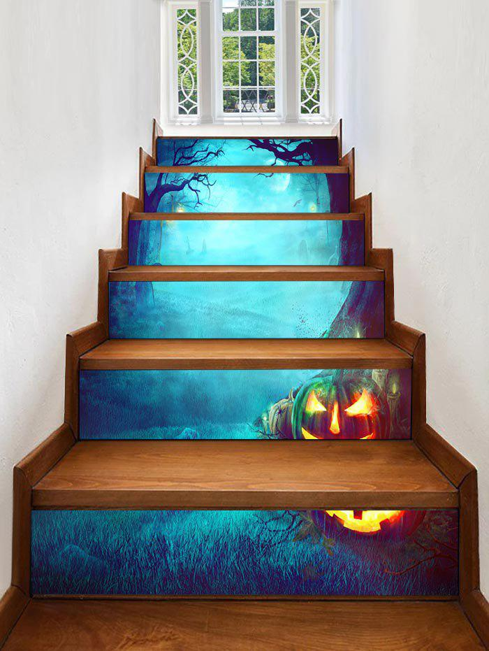 Sale Halloween Night Cemetery Print Decorative Stair Stickers