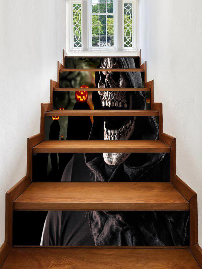 Cheap Halloween Death Print Decorative Stair Stickers