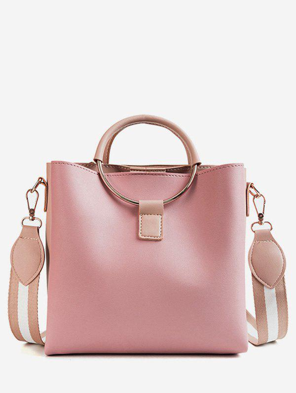 Discount Top Handle PU Leather Crossbody Bag