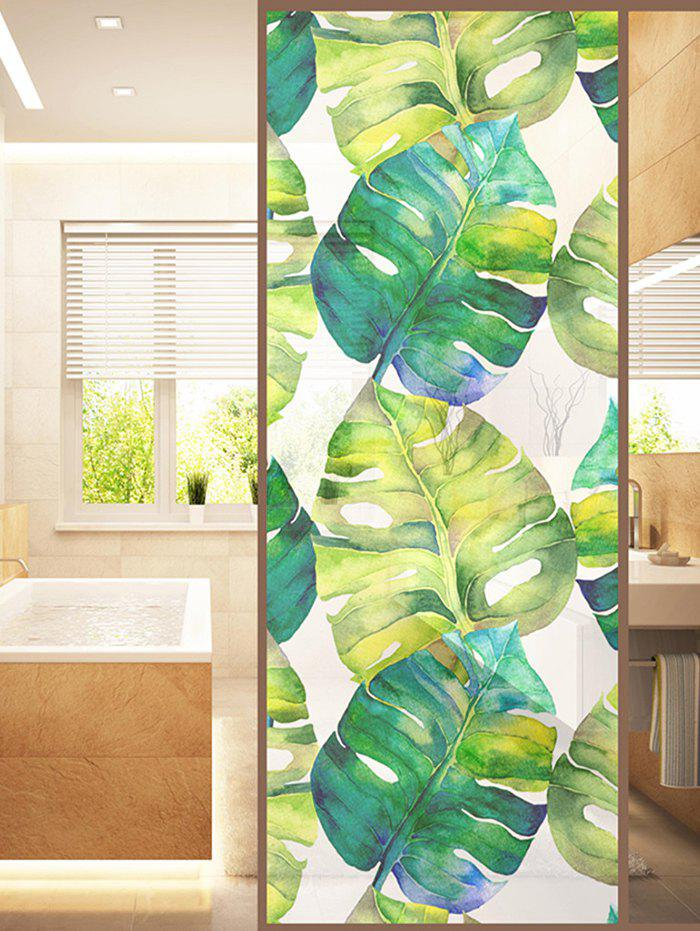 71 Off Frosted Palm Leaf Glass Sticker For Window