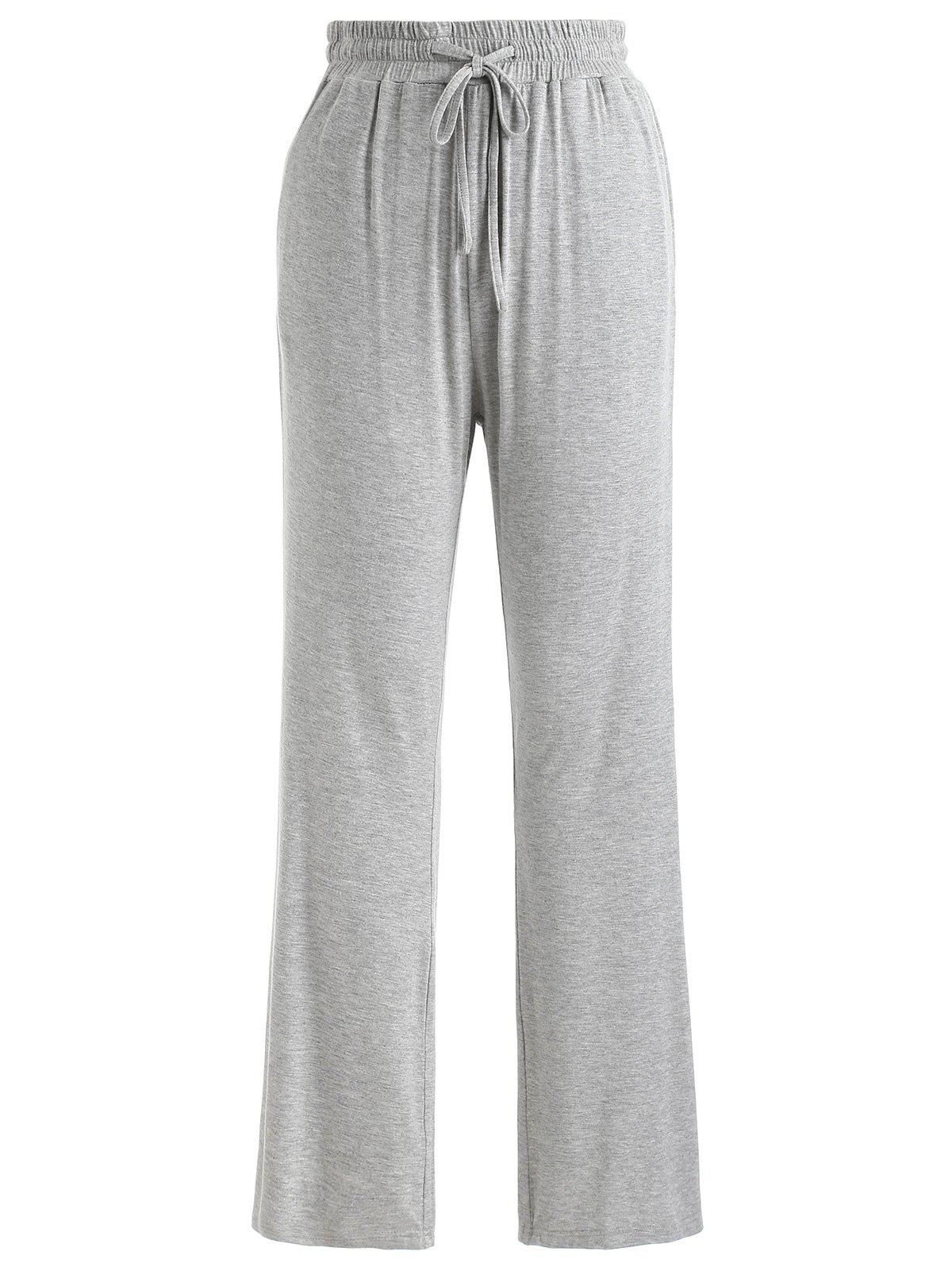 Discount Drawstring Flare Sleeping Pants