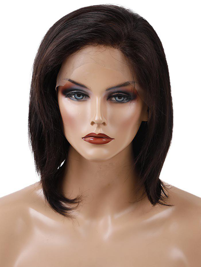 Shop Free Part Short Straight Human Hair Lace Front Wig