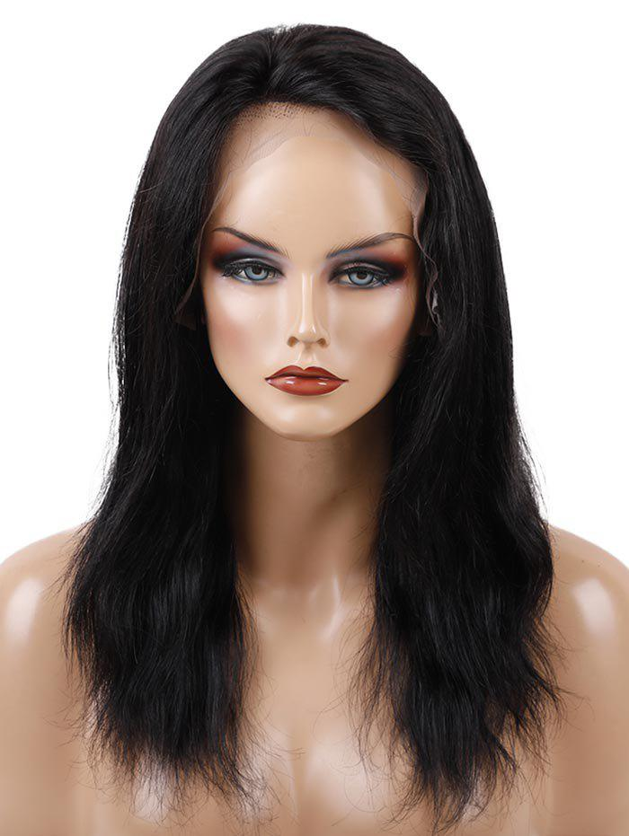 Trendy Free Part Medium Straight Human Hair Full Lace Wig