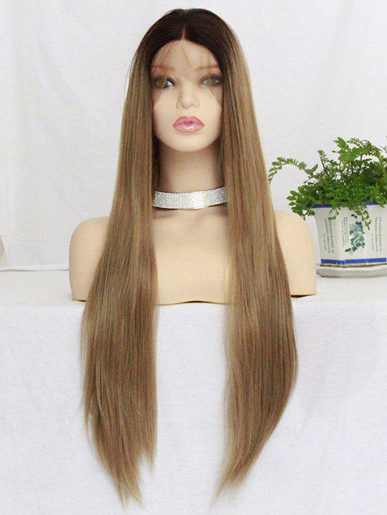 Shop Middle Part Long Straight Colormix Lace Front Synthetic Wig