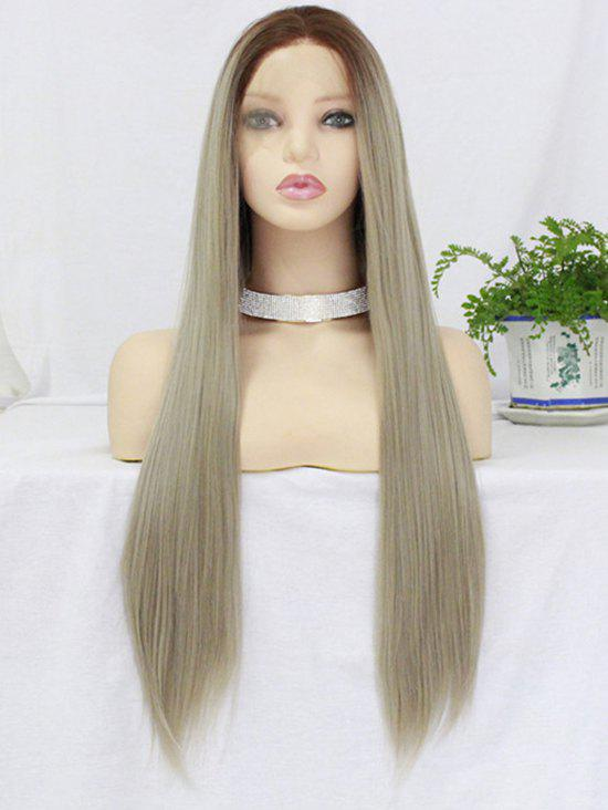 New Long Free Part Colormix Straight Lace Front Synthetic Wig
