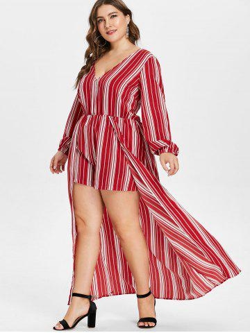 0b663ad95166 Plunging Long Sleeve Romper - Free Shipping