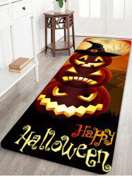 Halloween Pumpkins Pattern Water Absorption Area Rug -