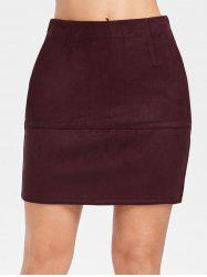 Mini Faux Suede Tube Skirt -