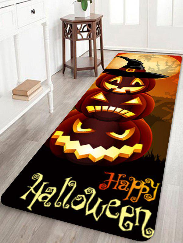 Shop Halloween Pumpkins Pattern Water Absorption Area Rug