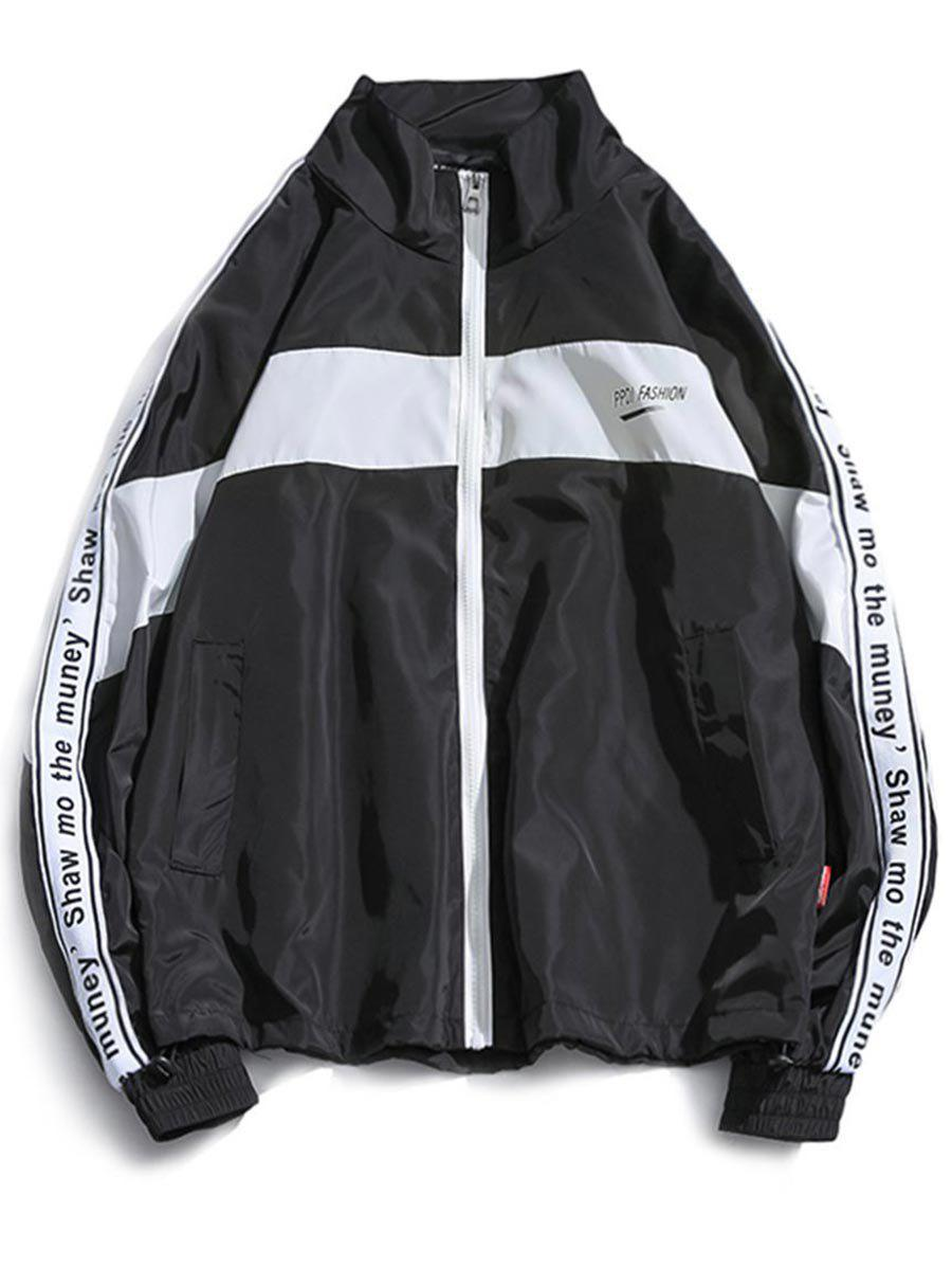 New Letter Sleeve Casual Windproof Jacket