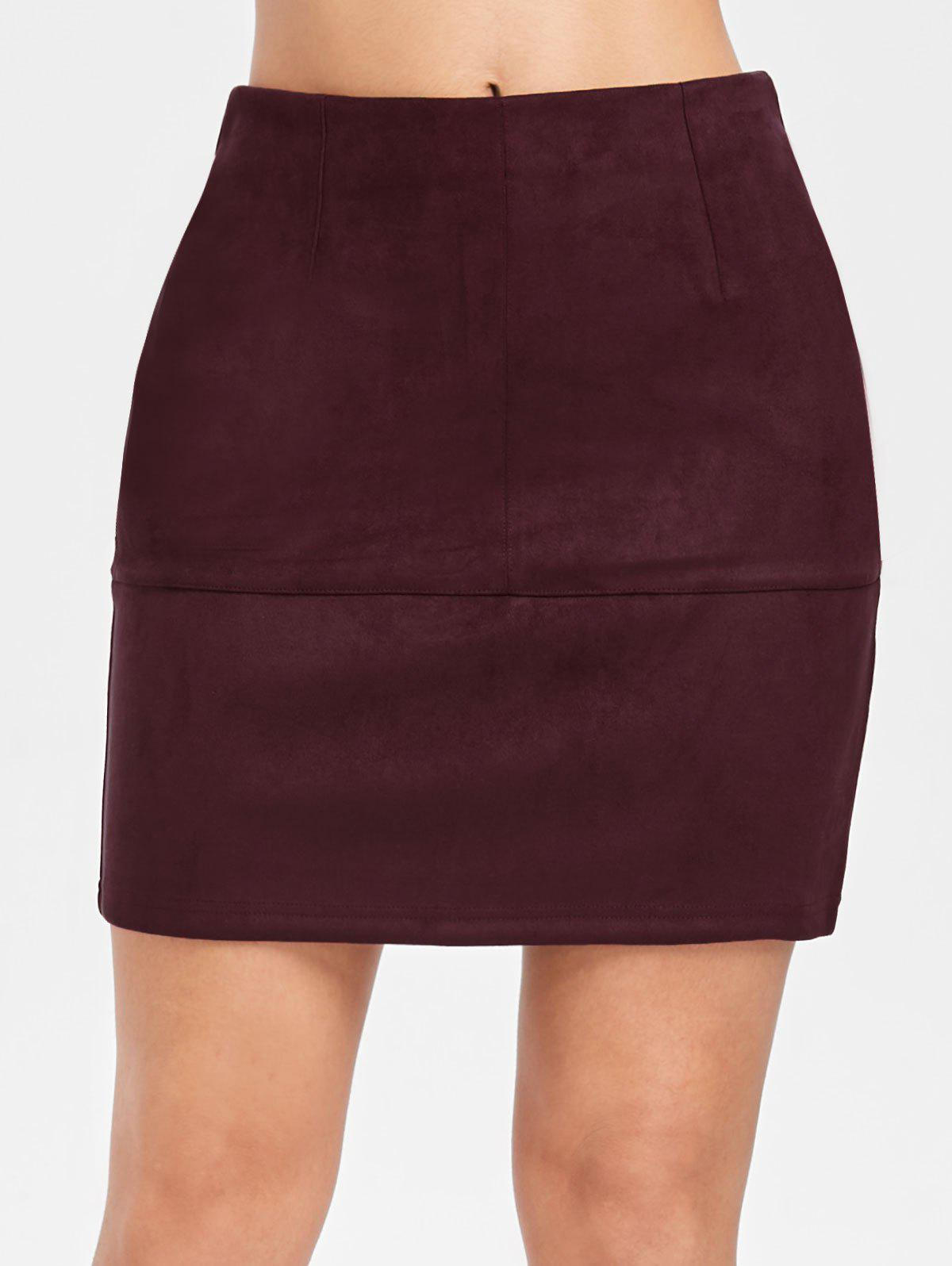 New Mini Faux Suede Tube Skirt