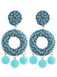 Boho Beads Ball Drop Earrings -