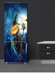 Halloween Pumpkin Cemetery Print Removable Refrigerator Stickers -