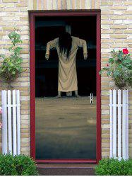 Horror Lady Ghost Print Removable Door Stickers -