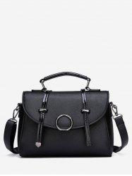 PU Leather Cover Top Handle Tote Bag -