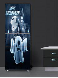 Halloween Ghost Moon Print Removable Refrigerator Stickers -