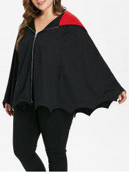 Halloween Plus Size Hooded Batwing Coat -