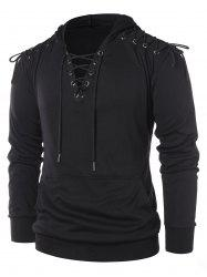 Lace Up Long Sleeve Hoodie -