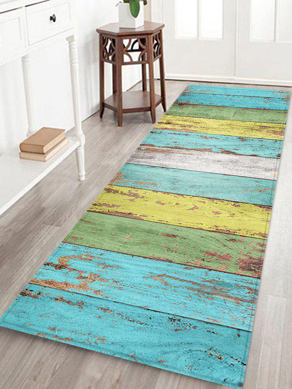 2019 Turquoise Wood Floor Print Indoor Outdoor Area Rug