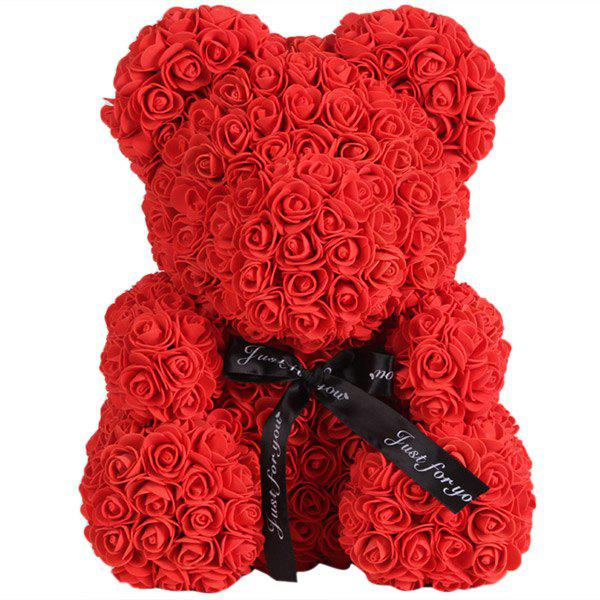 New Wedding Party Decoration Artificial Roses Bear Valentine's Day Gift
