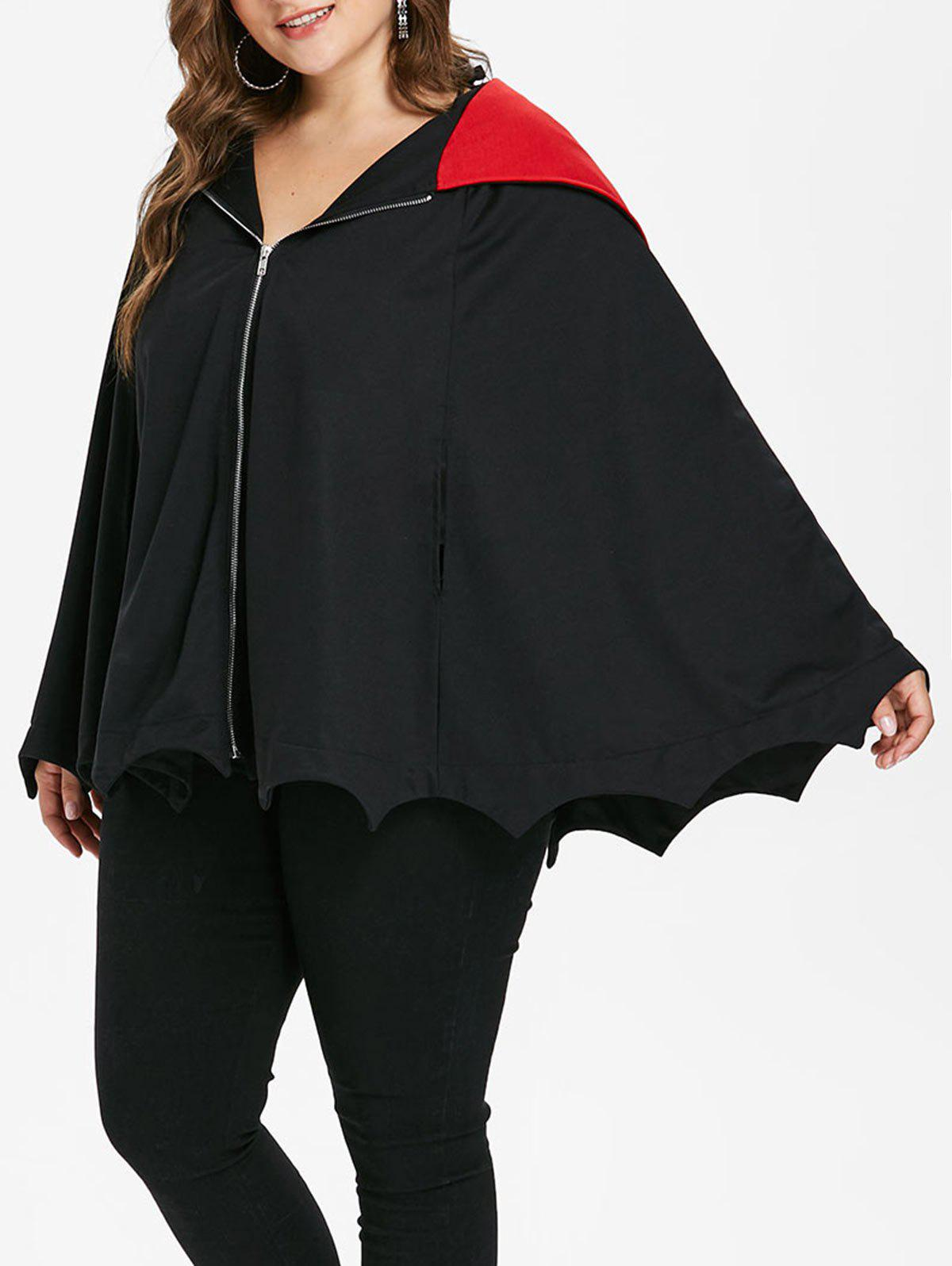Outfits Halloween Plus Size Hooded Batwing Coat