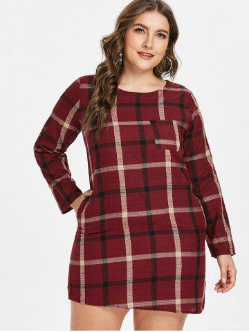 Plus Size Plaid Dresses - Long Sleeve, Tunic And Christmas Cheap ...
