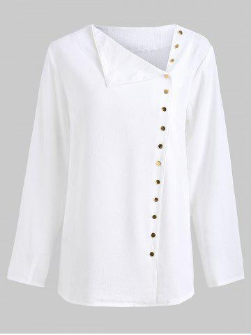 Off Center Button Up Blouse
