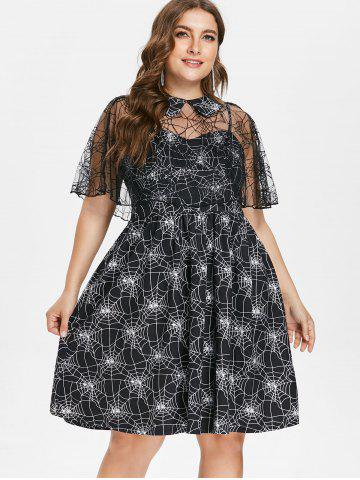 Halloween Plus Size Spider Web Dress
