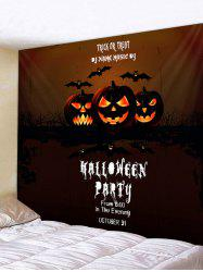 Wall Hanging Art Halloween Pumpkin Party Print Tapestry -