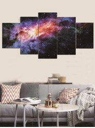Galaxy Print Unframed Split Canvas Paintings -