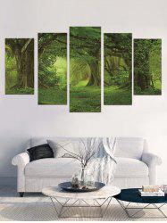 Forest Print Unframed Split Canvas Paintings -
