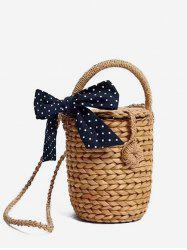 Fourre-tout en paille Bowknot Leisure Holiday -