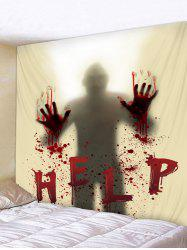 Halloween Blood Hand Help Tapestry Wall Art Decor -