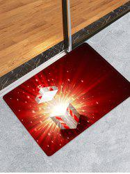 3D Christmas Gift Water Absorption Floor Rug -