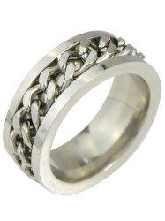 Alloy Simple Chain Finger Ring -