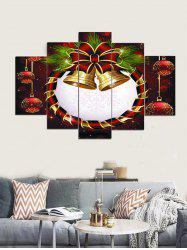 Christmas Bell Snowflake Printed Split Canvas Paintings -