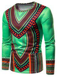 Ethnic Print Long Sleeve T-shirt -