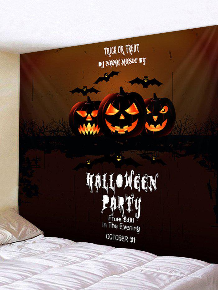 Fancy Wall Hanging Art Halloween Pumpkin Party Print Tapestry