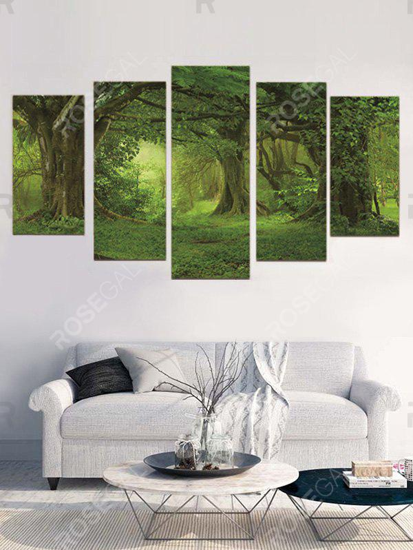 Best Forest Print Unframed Split Canvas Paintings