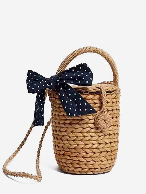 Fourre-tout en paille Bowknot Leisure Holiday