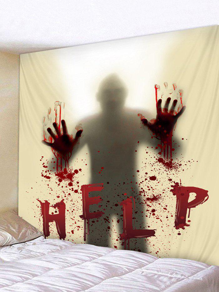 Unique Halloween Blood Hand Help Tapestry Wall Art Decor