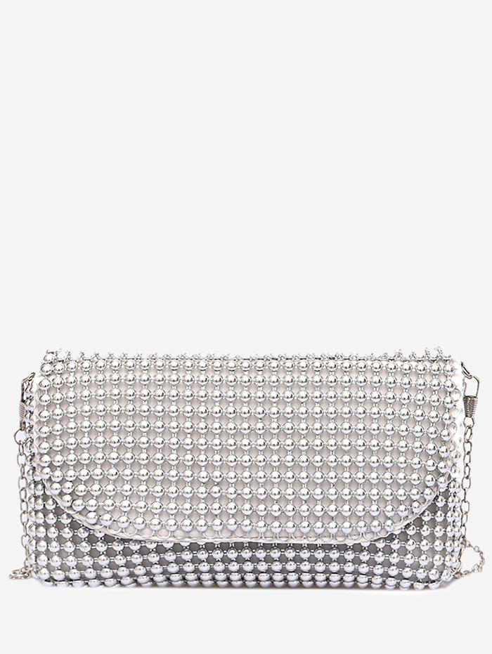 Outfit Faux Pearl Beaded PU Leather Bag